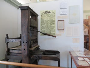 A Colonial era printing press