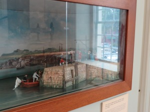 Diorama depicting the arrival of the French in Newport.